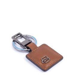 Portachiavi con moschettone Black Square colore cuoio - PIQUADRO PC3757B3/CU
