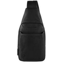 Monospalla porta iPad® Black Square colore nero - PIQUADRO CA4827B3/N