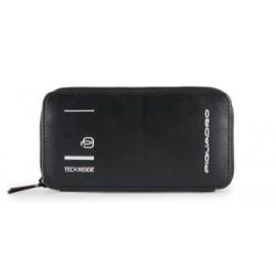 Pochette in pelle Kyoto porta smartphone colore nero - PIQUADRO AC4933S106/N