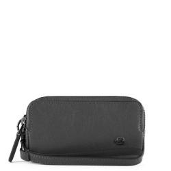 Pochette mini a due scomparti Black Square colore nero - PIQUADRO AC5201B3/N