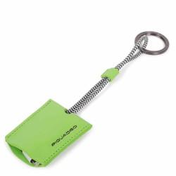 Portachiavi in pelle con cavo USB Empire colore verde fluo - PIQUADRO AC4236EM/VE