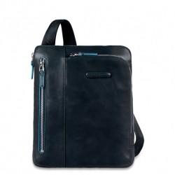 Borsello porta iPad tasca per lettore mp3 e passante per auricolari colore blu notte - Piquadro CA1816B2/BLU2