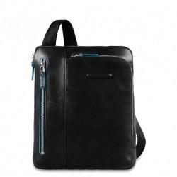 Borsello porta iPad tasca per lettore mp3 e passante per auricolari colore nero - Piquadro CA1816B2/N