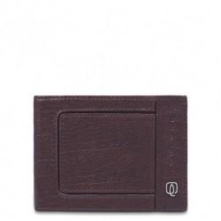 Portafoglio uomo in pelle con 12 scomparti porta carte di credito Vibe colore testa di moro - Piquadro PU1241VI/TM