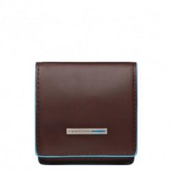 Portamonete a tacco quadrato Blue Square colore mogano - Piquadro PU2634B2/MO