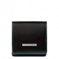 Portamonete a tacco quadrato Blue Square colore nero - Piquadro PU2634B2/N