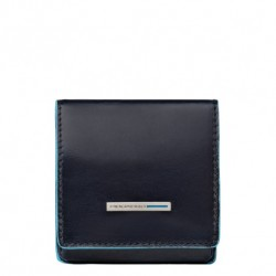 Portamonete a tacco quadrato Blue Square colore blu - Piquadro PU2634B2/BLU2