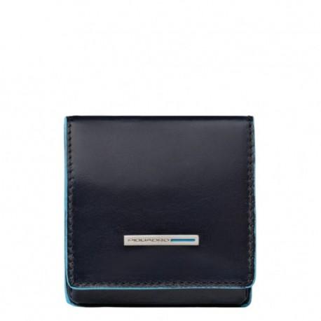 Portamonete a tacco quadrato Blue Square - Piquadro PU2634B2/BLU2